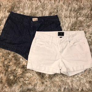 GAP jeans shorts white & one blue
